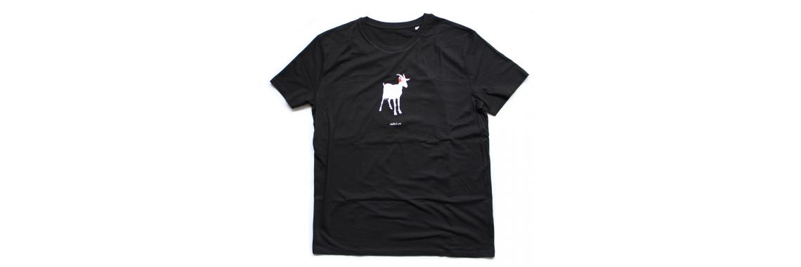 Černé tričko s kozou