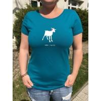 Dámské triko Koza - tyrkysové