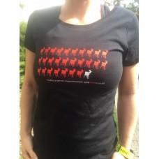 Dámské černé tričko 28 let R1