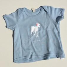 Dětské kojenecké triko Koza světle modré