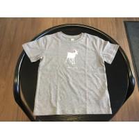 Dětské triko Koza šedé - velikost 110-116