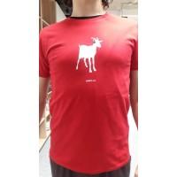 Pánské triko Koza - červené