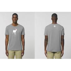 Pánské triko Koza - šedé